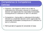 competence competence defined