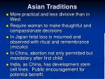 asian traditions