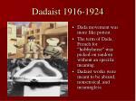 dadaist 1916 1924