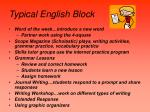 typical english block