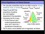 clinical significance via clinical chances