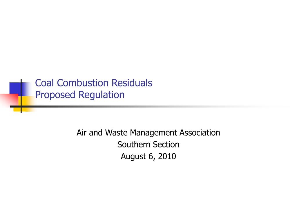 coal combustion residuals proposed regulation l.
