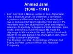 ahmad jami 1048 1141