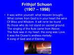 frithjof schuon 1907 1998