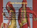 new humanities