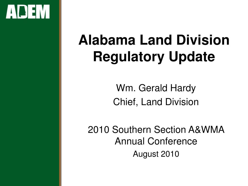 alabama land division regulatory update l.
