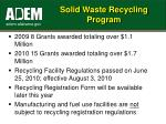 solid waste recycling program