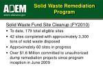 solid waste remediation program