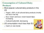 consumption of cultured dairy products