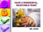 have a wonderful enjoyable year