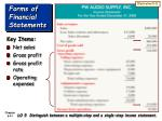 forms of financial statements41