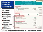 forms of financial statements42