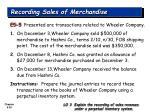 recording sales of merchandise26