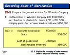 recording sales of merchandise27