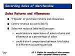 recording sales of merchandise28