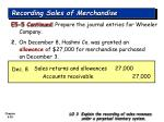 recording sales of merchandise29