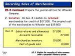 recording sales of merchandise30