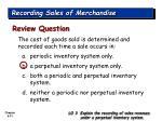 recording sales of merchandise31