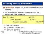 recording sales of merchandise33
