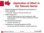 application of sdoc in the telecom sector