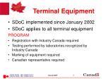terminal equipment