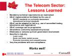 the telecom sector lessons learned
