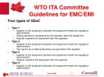 wto ita committee guidelines for emc emi