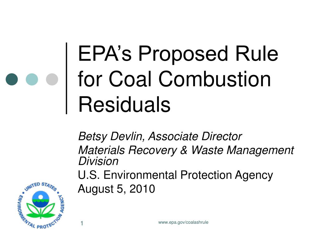 epa s proposed rule for coal combustion residuals l.
