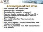 advantages of belt drive
