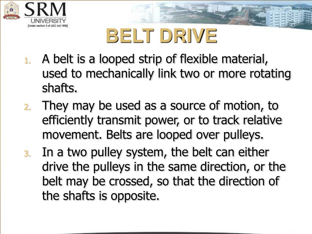 belt drive l.