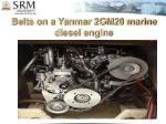 belts on a yanmar 2gm20 marine diesel engine