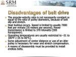 disadvantages of belt drive