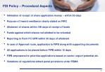 fdi policy procedural aspects