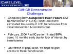 cmhcb demonstration challenges