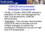 cmhcb demonstration solicitation components