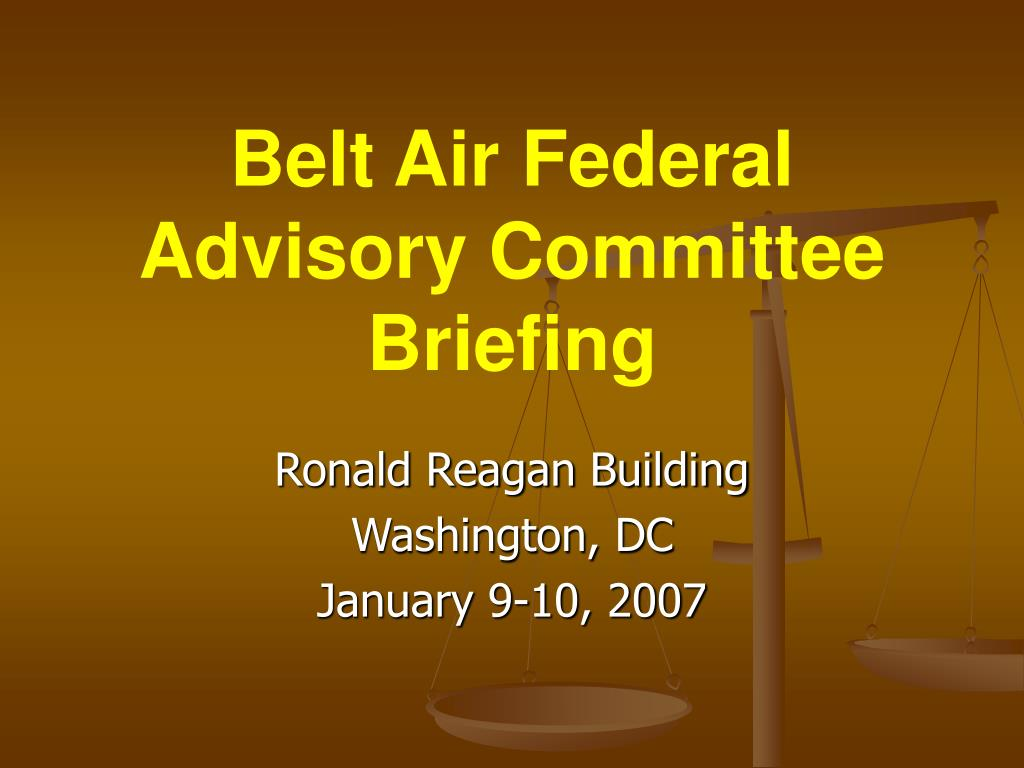 belt air federal advisory committee briefing l.