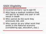 ssdi eligibility