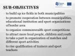 sub objectives