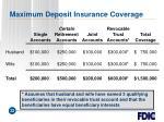 maximum deposit insurance coverage