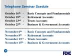 telephone seminar scedule