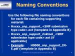 naming conventions82
