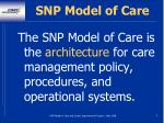 snp model of care