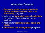 allowable projects