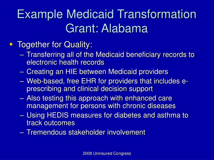 Ppt Cms Grant Programs Improving Access Amp Quality For