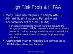 high risk pools hipaa