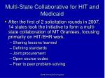 multi state collaborative for hit and medicaid