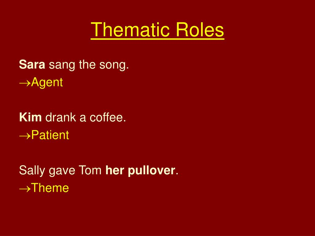 thematic roles l.
