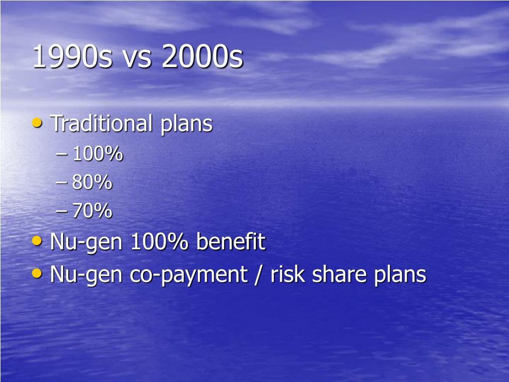 1990s vs 2000s