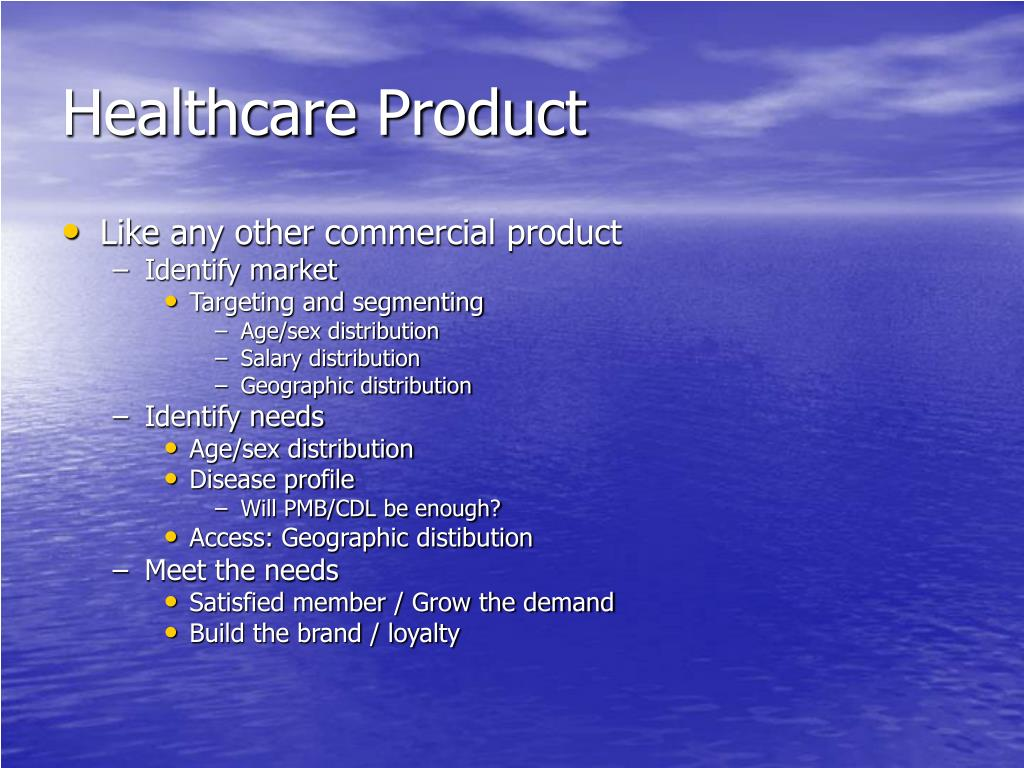 Healthcare Product