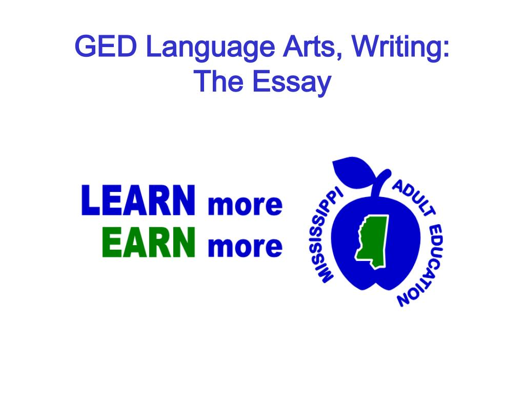 ged language arts writing the essay l.